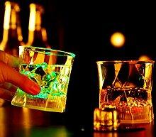 Bluelover Induktiven Led Wein Wasser Tasse Glas Bar Disco Whisky Bier Bunte Nacht Licht Tasse