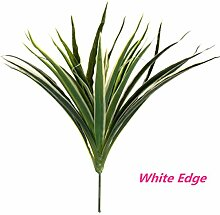 Bluelover Künstliche Grüne Blätter Pflanze Poted Bonsai Home Office Cafe Graden Hochzeit Tisch Dekor-Weiß