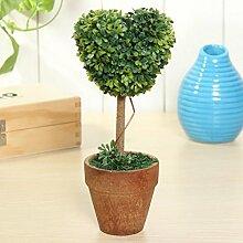 Bluelover Künstliche Topfpflanzen Pflanze Kunststoff Garten Rasen Ball Hecke Baum Topf Schreibtisch Hauptdekor-#8