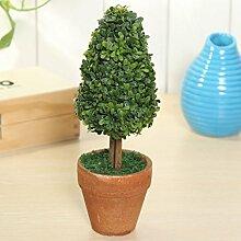 Bluelover Künstliche Topfpflanzen Pflanze Kunststoff Garten Rasen Ball Hecke Baum Topf Schreibtisch Hauptdekor-#3