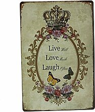 Bluelover Liebe Familie Zinn Zeichen Vintage Metall Plaque Poster Bar Haus-Wand-Dekor - Nr. 6