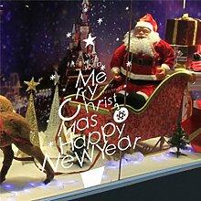 Bluelover Merry Christmas Tree Fenster Wandaufkleber Diy Weihnachten Dekoration Aufkleber Paste Aufkleber