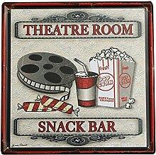Bluelover Metall Zinn Signtheater Snack-Bar Tin Sign Vintage Metall Plaque Poster Bar Pub Nach Hause Wand-Dekor