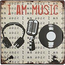 Bluelover Musik Tin Sign Vintage Metall Plaque Poster Bar Pub Haus-Wand-Dekor