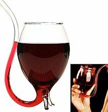 Bluelover Neuheit Vampir Weinglas Borosilikat Glas Wein Tasse Schnapsglas
