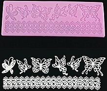 Bluelover Schmetterling Lace Fondant Kuchen Schimmel Schokolade Craft Schimmel Silikonwerkzeuge