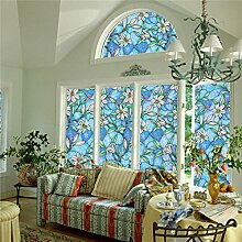 Bluelover Statische Fenster Folien 3 M Pvc Folien Glas Aufkleber-Kleber Gabel Kunstglas Poster Bad