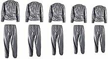 Bluelover Unisex-Pvc-Schweiß Sauna Suit Tuch Abnehmen Fitness