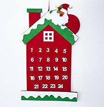 Bluelover Weihnachtsbaum-Adventskalender Filz
