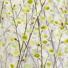Bluelover Wintersweet Baum Gedruckten Tüll Voile Vorhang Organza Schiere Fenster Bildschirm - Grün