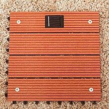 Bluelover Wood Plastic Composite Flooring Mit Solar Licht Im Freien Garten Balkon Ineinandergreifenden Decking Fliese-Hellro