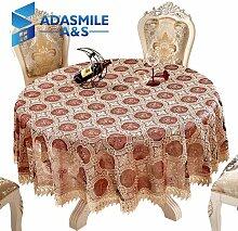 BLUELSS Adasmile Häkeln Floral Elegante runde Spitze Tischdecke Tischdecke Tischdecke Overlays für Banqute Hochzeitsfeier DecorationwineR 180 cm