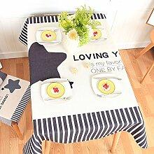 BLUELSS Einfache moderne Tischdecke verdickte