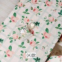 BLUELSS Garten Rose Blume Muster Baumwolle und