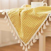 BLUELSS Ländliche Tischdecke Tuch Bettwäsche