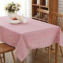 BLUELSS Moderne karierte Tischdecke rot/grünen
