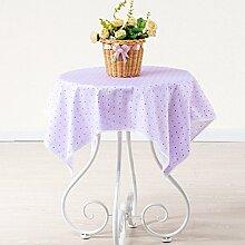 BLUELSS Tabelle Tuch 100% Baumwolle Spitze Tischdecke Hochzeit Rechteckige Tischdecke Tischdecken toalha de mesa manteles para mesaPurple 2160 x 210 cm.