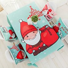 BLUELSS Weihnachten rot Tischdecke fröhliche