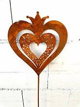 Blümelhuber Gartenstecker Herz aus Edelrost