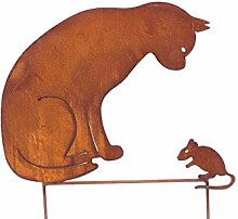 Blümelhuber Gartenstecker Katze + Maus 50cm höhe