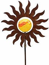 Blümelhuber Gartenstecker Sonne 145cm Metall Rost