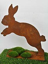 Blümelhuber Hase 40cm Metall Rost Gartendeko