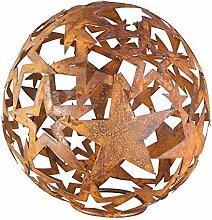 Bluemelhuber Sternen Kugel Metall Rost Gartendeko