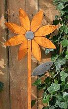 Blüte auf Stab 118cm Edelrost Optik Figur Beetstecker Dekoration Metall Garten Artikelzustand: Neu