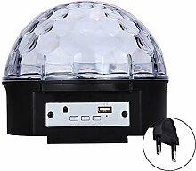 Bluetooth-6-Farbwechsel LED Crystal Ball Dekoration Bühne Licht Lampe für Xmas Party Pub Outdoor-Aktivität mit Fernbedienung