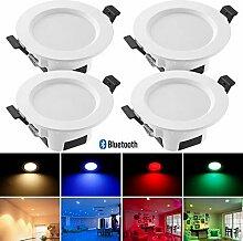 Bluetooth Mesh 9W Dimmbar LED Einbaustrahler RGBWC