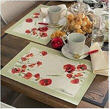Blumarine Set 2Tischdecken Frühstück Rote