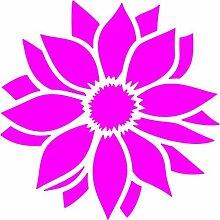 Blume Aufkleber 001, 50 cm, pink