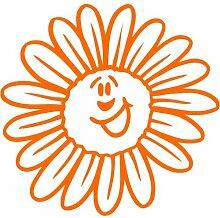 Blume Aufkleber 002, 30 cm, orange