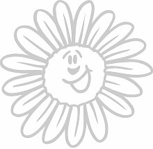 Blume Aufkleber 002, 50 cm, silber