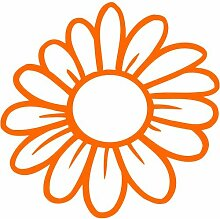 Blume Aufkleber 003, 30 cm, orange