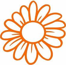 Blume Aufkleber 003, 50 cm, orange