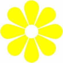 Blume Aufkleber 005, 50 cm, gelb