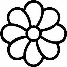 Blume Aufkleber 007, 50 cm, schwarz