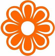 Blume Aufkleber 008, 40 cm, orange