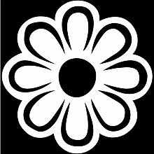 Blume Aufkleber 008, 50 cm, weiss