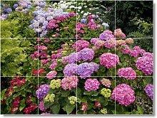 Blume Bild Badezimmer Fliesen Wand F116. 61x 81,3cm mit (12) 8x 8Keramik Fliesen.