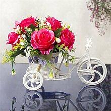 Blume Blumen blühen Fahrrad Blumen Körbe Kostüm Dekoration klein Ornamente Neuheit Geschenke,E/L*W*H :25*12*23cm
