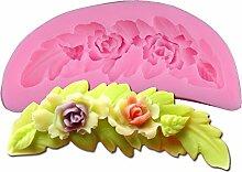 Blume Flower Leaf Blatt Kuchenform Silikon Backform Werkzeuge Küche Zubehör