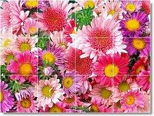 Blume Foto Wand fliesenwandbild F127. 45,7x 61cm mit (12) 6x 6Keramik Fliesen.