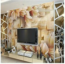 Blume & Holz 8D Papel Wandbild Tapete Für