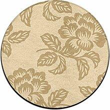 Blume Kreis Shaggy Teppich Runde Form für Schlafzimmer Wohnzimmer Teppich/Fußmatte/Anti-Rutsch