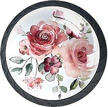 Blume Kristallglas Kommode Schublade Knöpfe