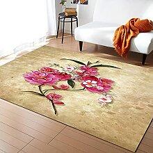 Blume Pflanze Aquarell Retro Teppiche für