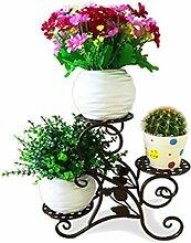 Blume Rack balkon Office Desktop multilayer Pflanze stehen, schwarz