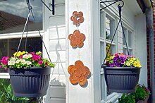 Blume Rost Metall Edelrost zum Hängen Blumen Hängedekoration Deko Dekoration 3tlg. Satz